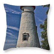 Marblehead Lighthouse Lake Erie Throw Pillow