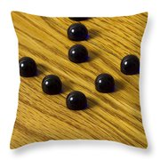 Marbles Arrow Blue 1 Throw Pillow