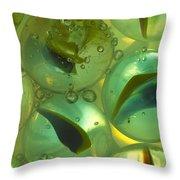 Marbles Cat Eyes Soda 1 D Throw Pillow