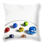 Marbles Circle 3 Throw Pillow