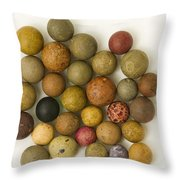 Marbles Clay 1 Throw Pillow