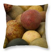 Marbles Clay 2 Throw Pillow