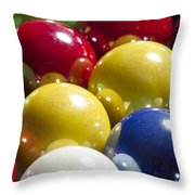 Marbles Mega Pearl 1 Throw Pillow