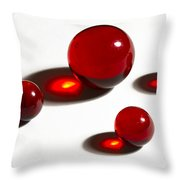 Marbles Red 2 Throw Pillow