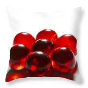 Marbles Red 3 B Throw Pillow