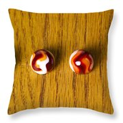 Marbles Red Orange Swirl 1 Throw Pillow