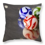 Marbles Strainer 2 Throw Pillow