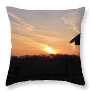 March 22  Countryside Sunrise Throw Pillow