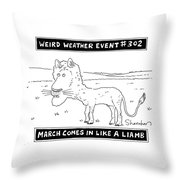 March Comes In Like A Liamb Throw Pillow