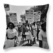 March For Equality Throw Pillow