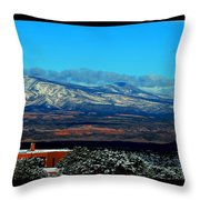 March In New Mexico Throw Pillow