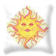 March Miss Patty Sun Throw Pillow
