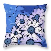 March Of The Daisies Throw Pillow
