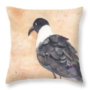 March Of The Laughing Gull Throw Pillow