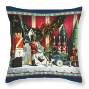 March Of The Wooden Soldiers Throw Pillow