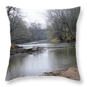 March River Morning Throw Pillow