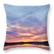 March Sunset At Whitesbog Throw Pillow