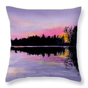March Sunset In Maine Throw Pillow