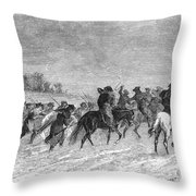 March To Trenton, 1776 Throw Pillow