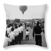 Marchers Number 2 100th Anniversary Parade Nogales Arizona 1980 Black And White  Throw Pillow