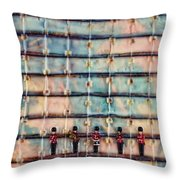 Marching Band Encaustic Throw Pillow