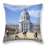 Marching By Throw Pillow