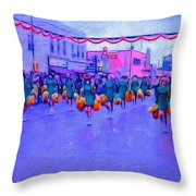 Marching In The Parade Throw Pillow