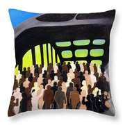 Marching Into History Throw Pillow