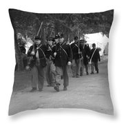 Marching Off To Battle Throw Pillow