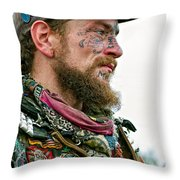 Marching To His Own Drummer Throw Pillow