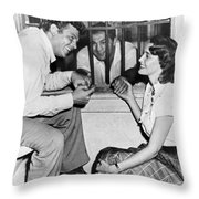 Marciano In A Movie Jail Set Throw Pillow by Underwood Archives