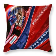 Marco Andretti Focused Throw Pillow