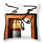 Marconis First Transmitter 1897 Throw Pillow
