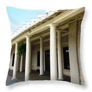 Marcy Casino At Delaware Park Buffalo Ny Oil Painting Effect Throw Pillow