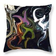 Mardi Gras Abstract Throw Pillow
