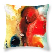 Mardi Gras - Colorful Abstract Art By Sharon Cummings Throw Pillow