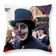 Mardi Gras Costumes Photo Throw Pillow