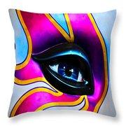 Mardi Gras Eye Throw Pillow