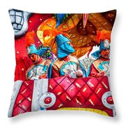 Mardi Gras Float 2 Throw Pillow