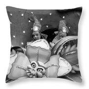 Mardi Gras Float Monochrome Throw Pillow