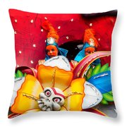 Mardi Gras Float Throw Pillow