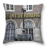 Mardi Gras Fountain Cologne German Throw Pillow