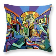 Mardi Gras Lets Get The Party Started Throw Pillow