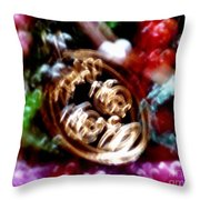 New Orleans Mardi Gras Madness In Louisiana Throw Pillow