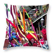 Mardi Gras Marching Parade Throw Pillow