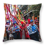 Mardi Gras In New Orleans Throw Pillow