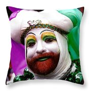 Mardi Gras New Orleans La Throw Pillow