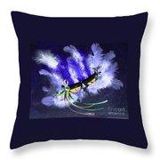 Mardi Gras On Purple Throw Pillow