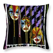 Mardi Gras Poster New Orleans Throw Pillow