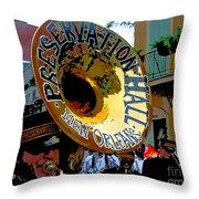 Mardi Gras Preservation Hall Photo Artistic Throw Pillow
